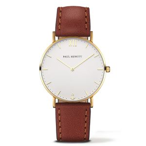 Paul Hewitt Montre Femme, homme Sailor Line Marron