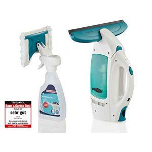 Leifheit Set Aspirateur à vitres Dry & Clean + Spray nettoyant 5 ml, nettoyeur vitre sans traces, l