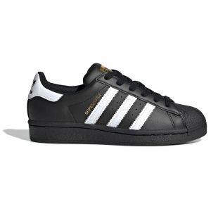Adidas Superstar J, Basket Mixte Enfant, Noir de Base Blanc Blanc Noir de Base, 37 1/3 EU