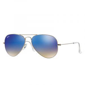 Ray-Ban Aviator flash lenses gradient Sunglasses Verres  Bleu, Monture   Argent - 4e67d4c7e8