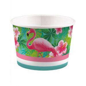 8 Pots à glace Flamingo Paradise 270 ml Taille unique