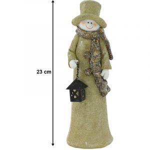 Eglo Bonhomme de neige avec lanterne noire pour votre décoration d'hiver