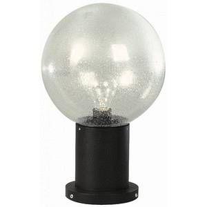 Albert Leuchten Luminaire pour socle II noir en verre à bulles