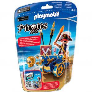 Playmobil 6164 Pirates - Corsaire avec canon bleu