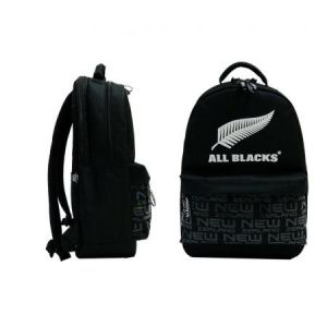Quo Vadis 246623Q - Sac à dos 2 compartiments Rugby, visuel All Blacks 1905