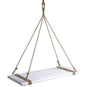 Aubry Gaspard Plateau suspendu en bois teinté blanc -