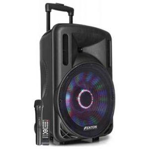 Fenton FT12LED Enceinte sono active 12 700W Bluetooth USB SD AUX + 1 micro UHF
