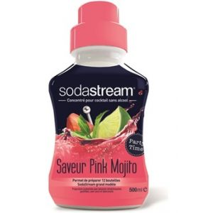 Sodastream Machine à soda et eau gazeuse Saveur PINK MOJITO