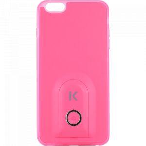 The kase Coque selfie avec déclencheur à distance Bluetooth pour iPhone 6/6s, Limonade Rose