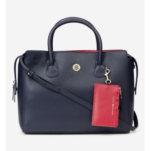 Tommy Hilfiger Satchel with Monogramm-Emblem navy (AW0AW06463)
