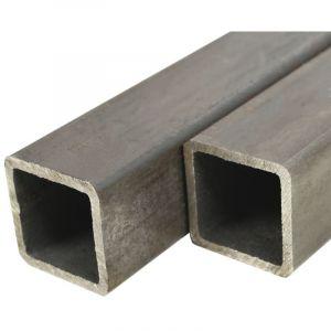 VidaXL Tube Section carrée Acier de construction 6 pcs 1 m 25x25x2 mm