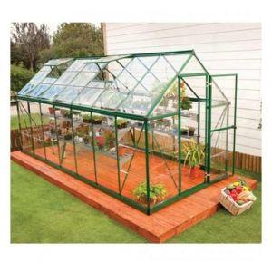 Palram Serre de jardin en polycarbonate Harmony 7,95 m², Couleur Vert, Ancrage au sol Non - longueur : 4m30