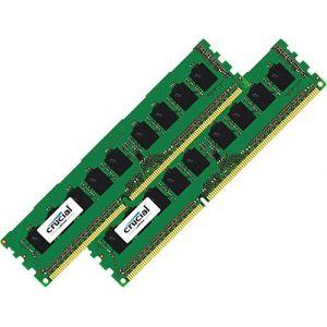 Crucial Barrette mémoire 16 Go (2x 8 Go)  DDR3 ECC UDIMM 1866 MHz Mac Pro 2013