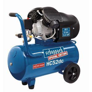 Scheppach HC52DC - Compresseur à deux cylindres 50L 8 bar 2200W
