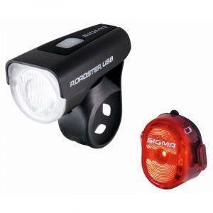 Sigma Sport Roadster - Kit éclairage vélo - USB/Nugget II rouge/noir Sets de lampes
