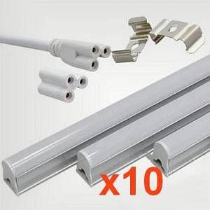 Silamp Tube néon LED 60cm T5 9W (Pack de 10) - couleur eclairage : Blanc Froid 6000K - 8000K