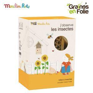Graines en Folie Hôtel à insectes (27 x 19 x 13 cm)