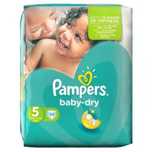 Pampers Baby Dry taille 5 Junior 11-25 kg - 39 couches