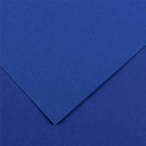 Canson 200040376 - Feuille Iris Vivaldi 50x65 240g/m², coloris bleu roi 23