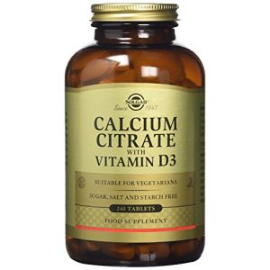 Solgar Calcium Citrate with Vitamin D3, 240 Tablets