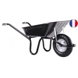 Haemmerlin 305251006 - Brouette Aktiv Excellium peinte roue gonflée 100 L