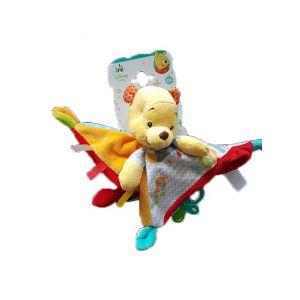 Doudou Disney Winnie l'ourson avec attache tétine