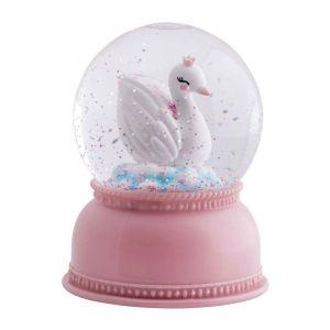A Little Lovely Company Boule à neige lumineuse cygne