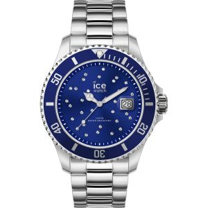 Ice Watch Ice-Watch - ICE steel Black cosmos silver - Montre argent pour femme avec bracelet en metal - 016773 (Medium)