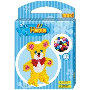 Hama Boîte de 350 perles à repasser avec plaque : Nounours