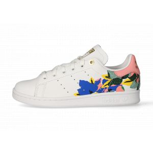 Adidas Stan Smith cuir Femme-39 1/3-Blanc Rose Or