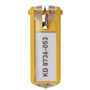 Durable 1957-04 - Sachet de 6 porte-clés KEY CLIP, coloris jaune