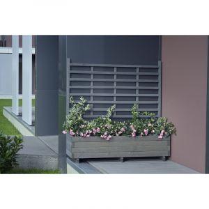 Gaspo Gmunden - Jardinière avec treillis L 136 x H 136 cm couleur grise