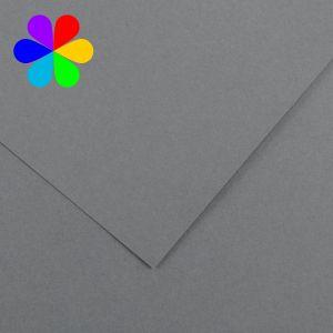 Canson 200040813 - Feuille Iris Vivaldi A4 240g/m², coloris gris foncé 36
