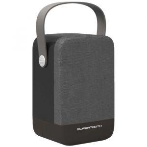 SuperTooth Enceinte portable Bluetooth stéréo D5 - Anthracite - Bluetooth 4.0 - Bass reflex - 8W RMS - Portée : 10 m - 2,4 GHz - Batterie Lithium-ion - Anthracite