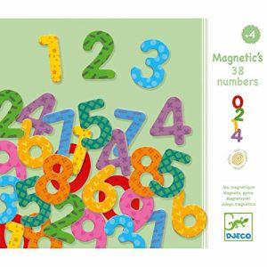 Djeco Nombres magnétiques en bois x 38
