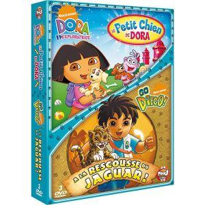 Coffret Dora l'exploratrice : Le petit chien de Dora + Go Diego ! : A la rescousse du jaguar !