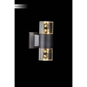 Globo Lighting Applique extérieure double - Aluminium - Noir - Optique acrylic