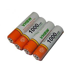 Vhbw Lot de 4 piles rechargeables AAA Micro