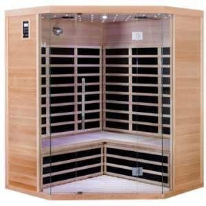 Sauna d'angle infrarouge 3/4 places Luxe - Émetteurs carbone 2850W - SNÖ
