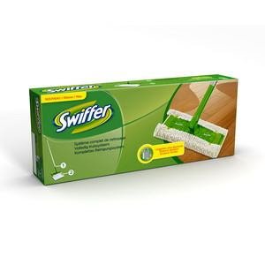Swiffer Kit complet de nettoyage (1 balai et 2 lingettes Dry)