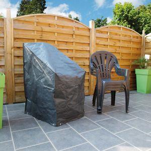 Ubbink Nature Housse pour chaises empilées 110 x 68 x 68 cm PE gris foncé