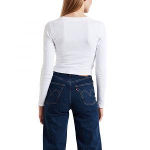 Levi's Baby T-shirt manches longues Femmes blanc T. M