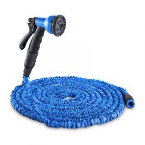 Waldbeck Flex 30 tuyau d'arrosage flexible pour jardin 8 fonctions 30 m - bleu