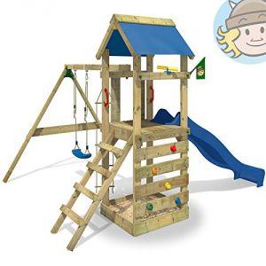 Wickey Freeflyer - Tour de jeux avec toboggan, balançoire, bac à sable et accessoires