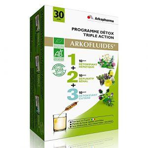 Arkopharma Arkofluides Programme Détox Triple Action Bio, 3x10 ampoules