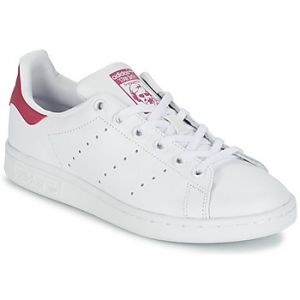 Adidas Stan Smith, Sneakers Basses Fille, Blanc (FTWR White/FTWR White/Bold Pink), 38 2/3 EU (UK Child 5.5 Enfant UK)