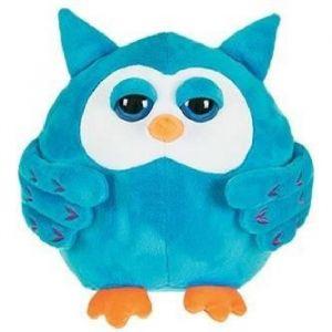 Décar Peluche Hibou bleu 30 cm