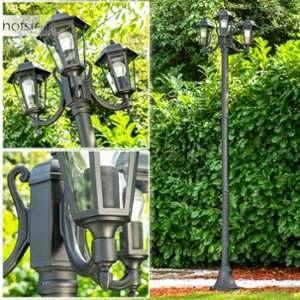Hofstein Lampadaire extérieur NATAL qui éclairera parfaitement votre cour et votre jardin - Lampadaire de jardin au style intemporel
