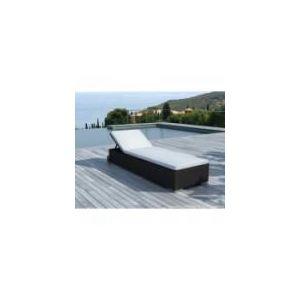 Delorm Design SD9513 - Chaise longue Relax en résine tressée