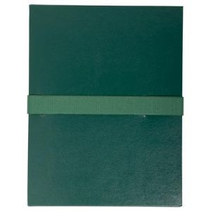 Exacompta 2653E - Chemise à dos extensible balacron, à sangle velcro, coloris vert foncé